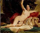 Nude Canvas Paintings - Female Nude in a Landscape