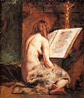 William Etty Penitent Magdalen painting