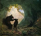 William Holbrook Beard Bear and Cubs painting
