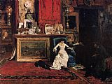 Famous Artist Paintings - Interior of the Artist's Studio aka the Tenth Street Studio