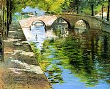 Famous Scene Paintings - Reflections aka Canal Scene