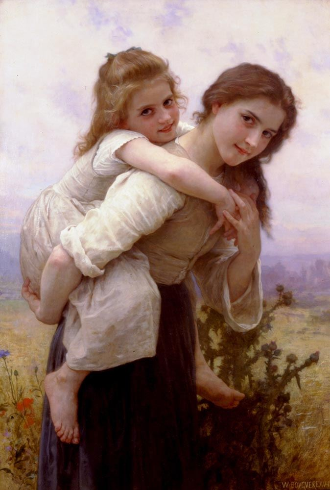 William Bouguereau Fardeau Agreable