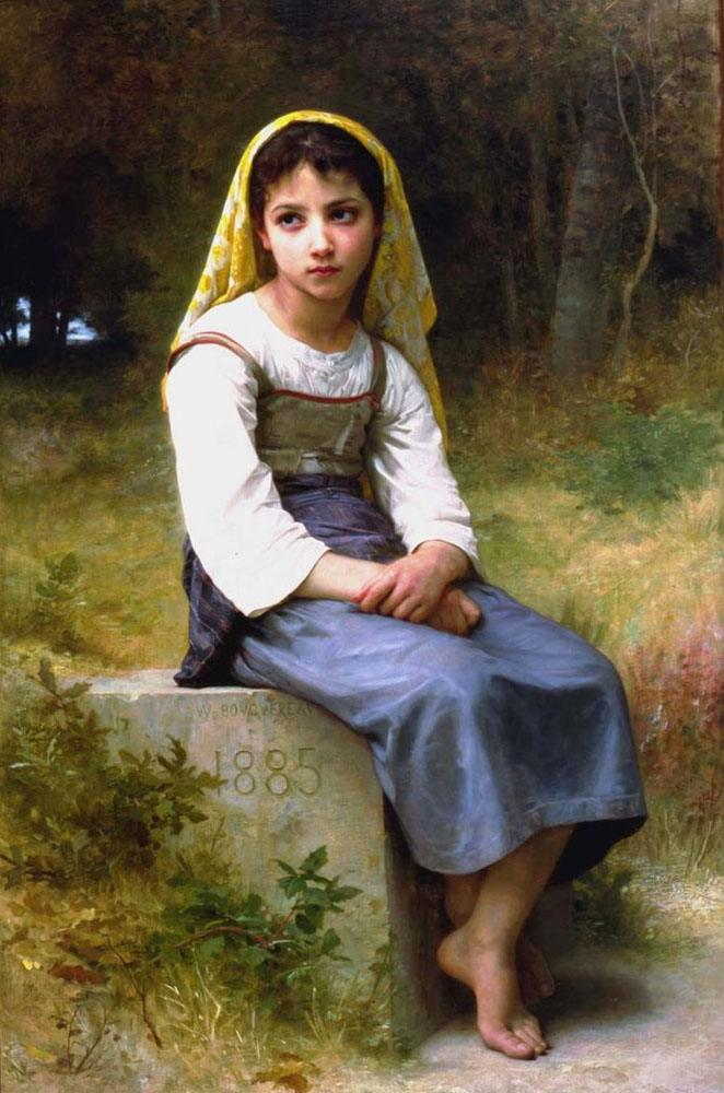 William Bouguereau Meditation