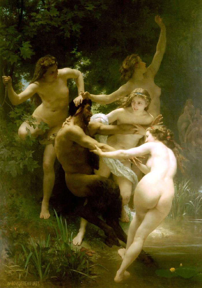 William Bouguereau Nymphs and Satyr.