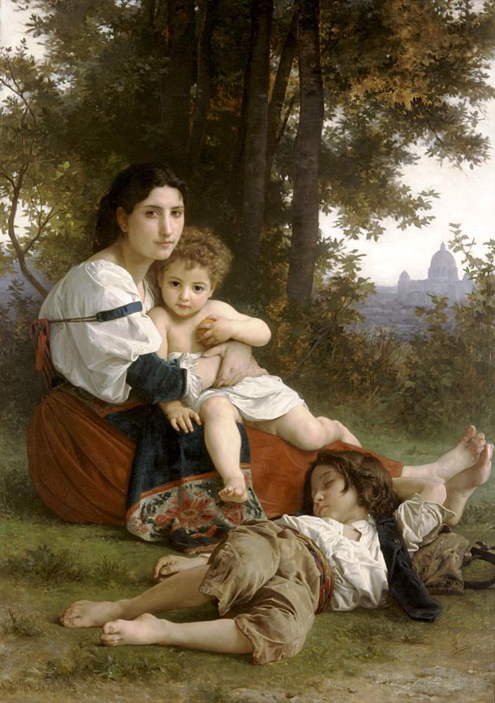 William Bouguereau Rest