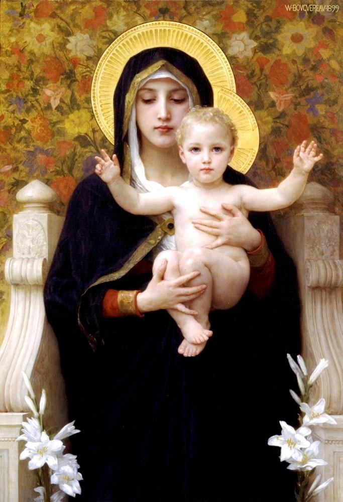 William Bouguereau The Virgin of the Lilies