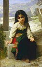 William Bouguereau Famous Paintings - Petite mendiante