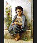 William Bouguereau The Little Knitter painting
