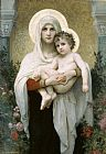Madonna Canvas Paintings - The Madonna of the Roses