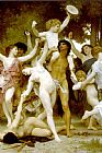 William Bouguereau Famous Paintings - The Youth of Bacchus detail1