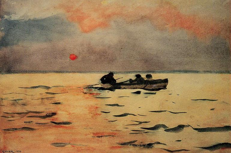 Winslow Homer Rowing Home