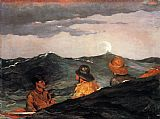 Winslow Homer Kissing the Moon painting