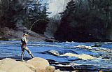 Winslow Homer Quananiche Lake St. John painting