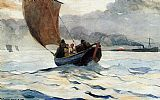 Famous Boats Paintings - Returning Fishing Boats