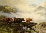 Wright Barker - Highland Cattle in a Pass