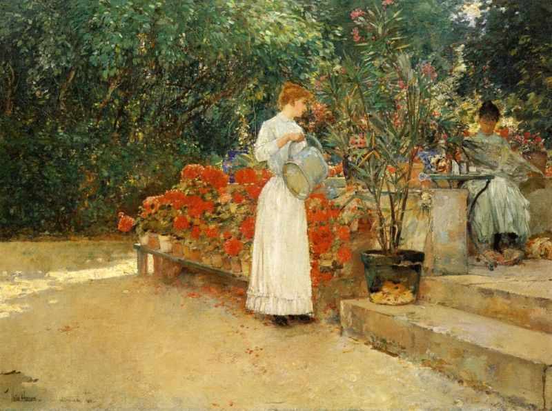 childe hassam After Breakfast