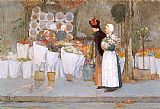 childe hassam - At the Florist