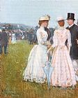 childe hassam At the Grand Prix in Paris painting
