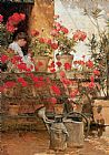 childe hassam - Geraniums