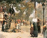 Street Canvas Paintings - Paris Street Scene