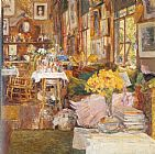 childe hassam The Room of Flowers painting