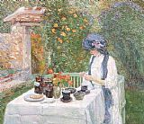 childe hassam The Terre-Cuite Tea Set painting