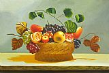 Flower Famous Paintings - The Fruit Basket