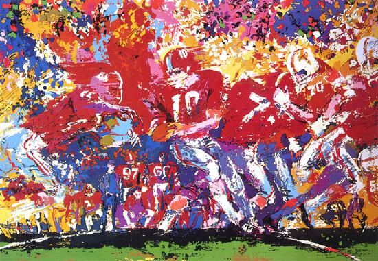 Leroy Neiman Alabama Hand Off