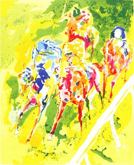 Leroy Neiman Along The Rail