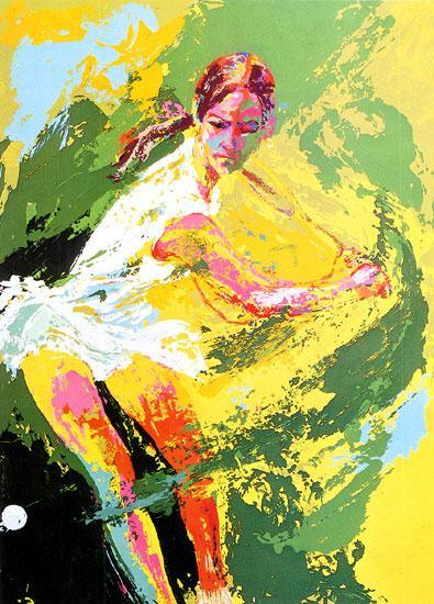 Leroy Neiman Backhand Chris Evert