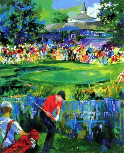 leroy neiman valhalla golf painting framed paintings for sale. Black Bedroom Furniture Sets. Home Design Ideas