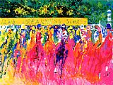 Leroy Neiman Canvas Paintings - 125th Preakness Stakes