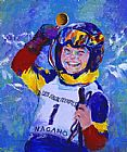 leroy neiman Canvas Paintings - 2005 Special Olympics Nagano