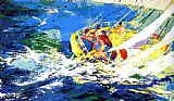 Leroy Neiman Canvas Paintings - Aegean Sailing