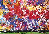 Leroy Neiman Canvas Paintings - Alabama Hand Off