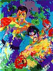 Leroy Neiman Canvas Paintings - Ali Foreman Zaire