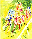 Leroy Neiman Canvas Paintings - Along The Rail