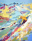 Leroy Neiman Canvas Paintings - Alpine Skiing