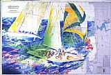 Leroy Neiman Canvas Paintings - America's Cup Australia