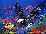 Leroy Neiman Canvas Paintings - American Bald Eagle