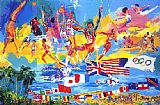 leroy neiman Canvas Paintings - American Gold