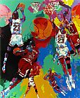 Leroy Neiman Famous Paintings - Michael Jordan