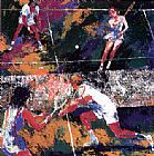 Leroy Neiman Mixed Doubles painting