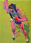 Leroy Neiman Famous Paintings - Olympic Runner