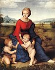 Madonna Canvas Paintings - Madonna of Belvedere