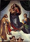 Madonna Canvas Paintings - The Sistine Madonna