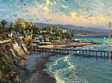 Thomas Kinkade Capitola Village painting