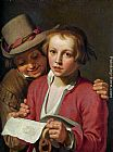 Abraham Bloemaert - Two Boys Singing from Sheet of Paper