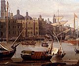 Abraham Jansz Storck - A Capriccio Of The Grand Canal, Venice - detail