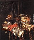 Abraham van Beyeren Banquet Still-Life with a Mouse painting